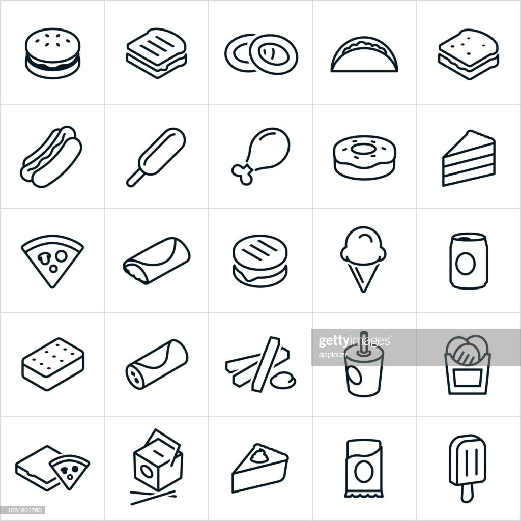 Fast Food Icons : stock illustration