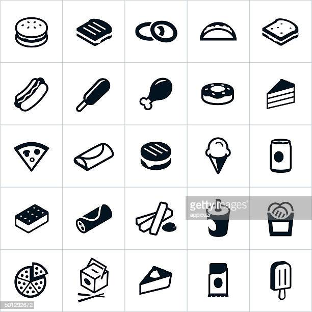 fast food icons - mexican food stock illustrations, clip art, cartoons, & icons