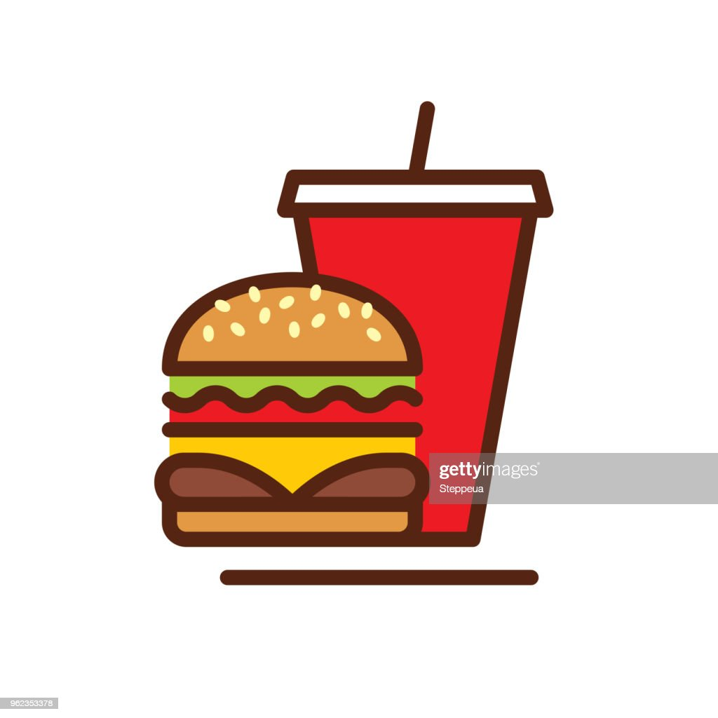 Fast Food line icon : stock illustration