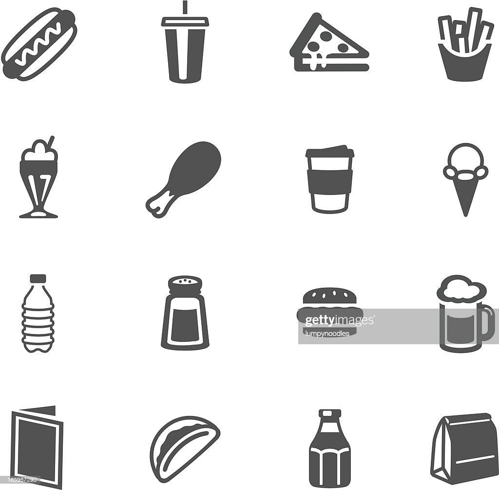 Fast Food Symbols Vector Art Getty Images