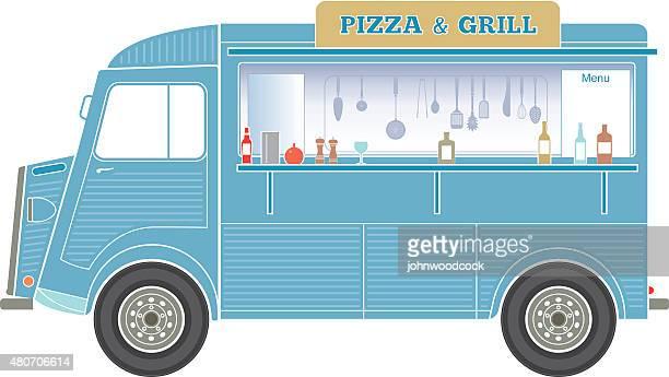 Fast-food-van Illustrationen