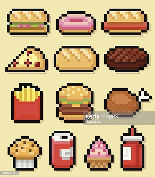fast food - hamburger stock illustrations, clip art, cartoons, & icons