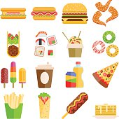 Fast food vector set.