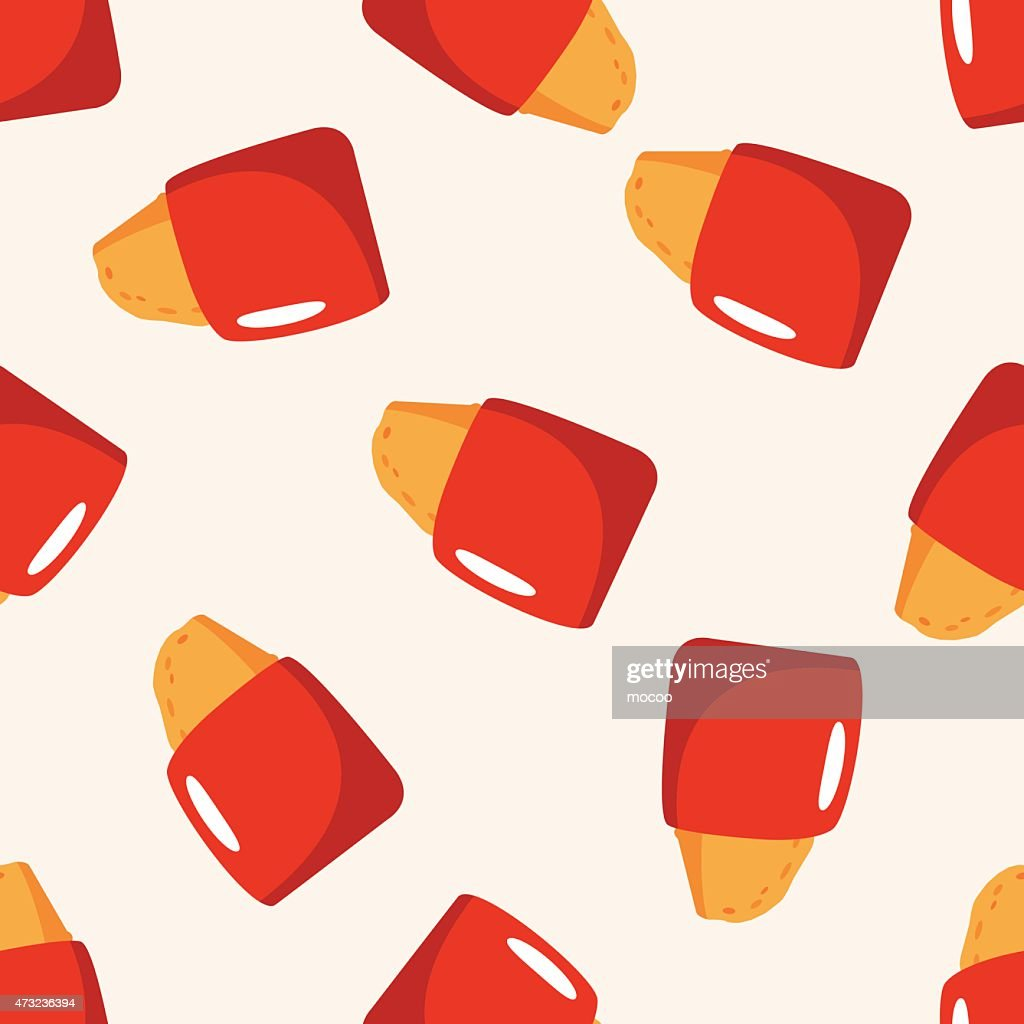 fast foods hashbrown , cartoon seamless pattern background