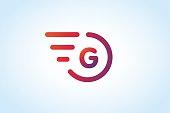 Fast line vector letter G monogram