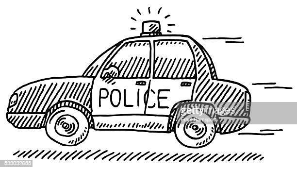 30 Meilleurs Voiture De Police Illustrations Cliparts