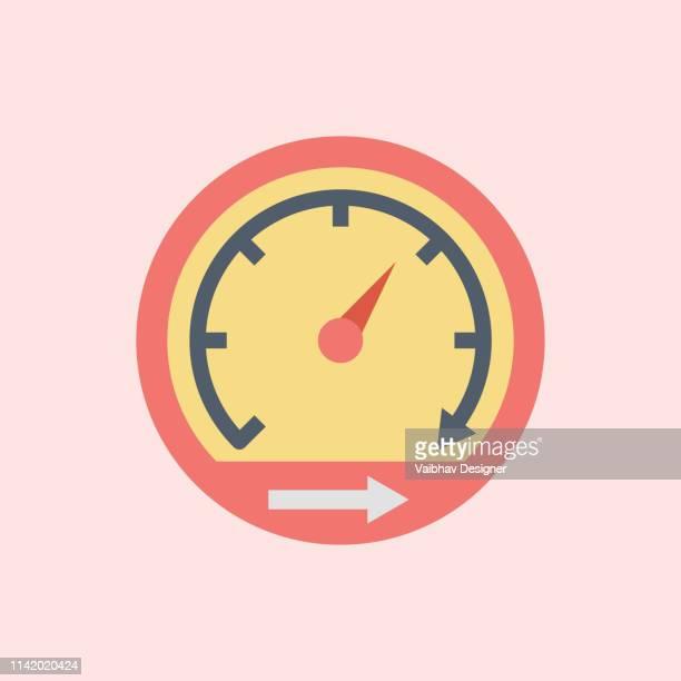 ilustrações, clipart, desenhos animados e ícones de processamento rápido, finanças gerenciamento linha ícone da arte, relógios de negócios vector art, esboço digital tempo de resposta ilustração - segundo tempo esporte