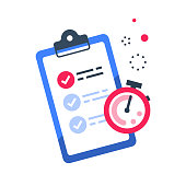 Fast services, check list and stopwatch, quick questionnaire, short survey