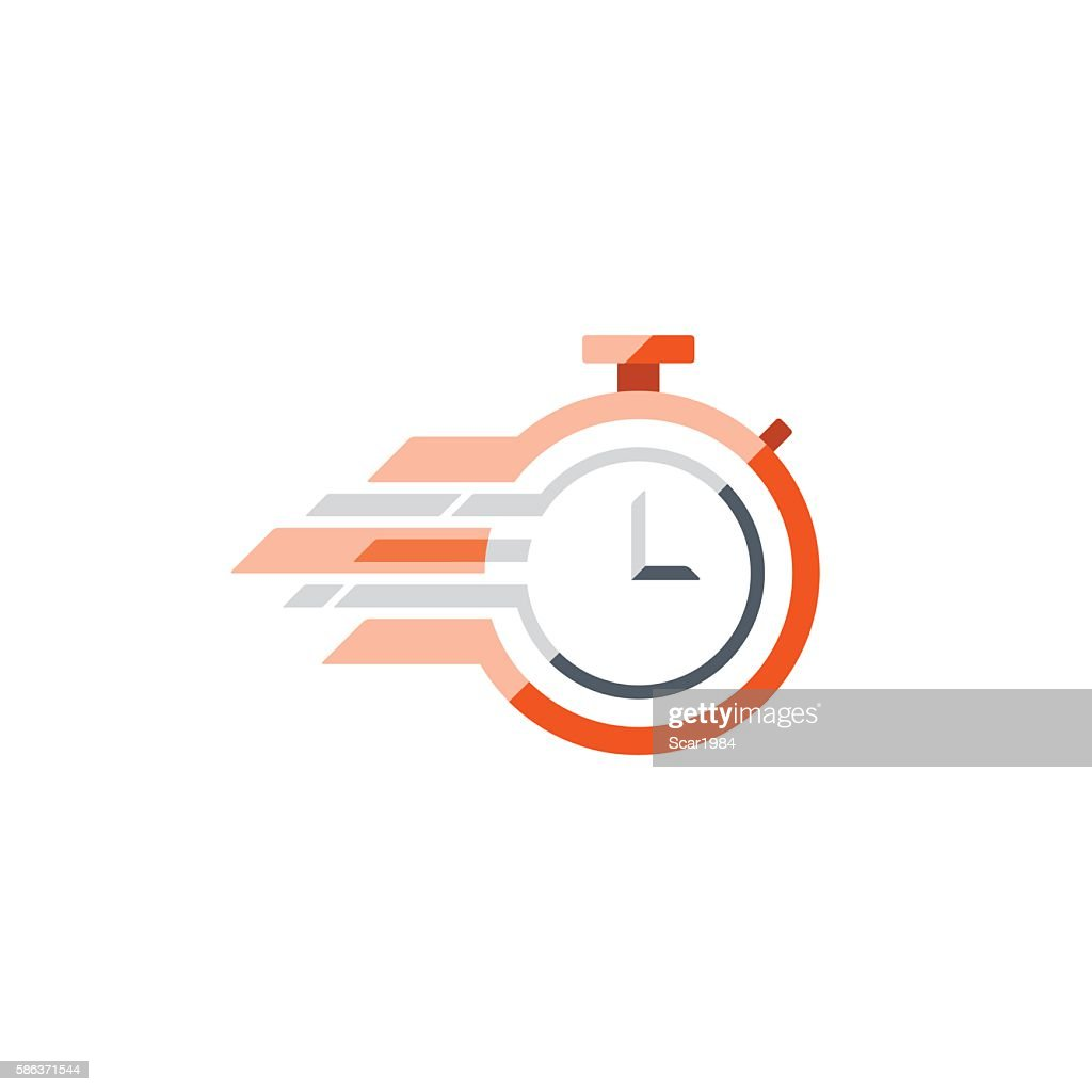 Fast time concept, rush hour logo, training session icon