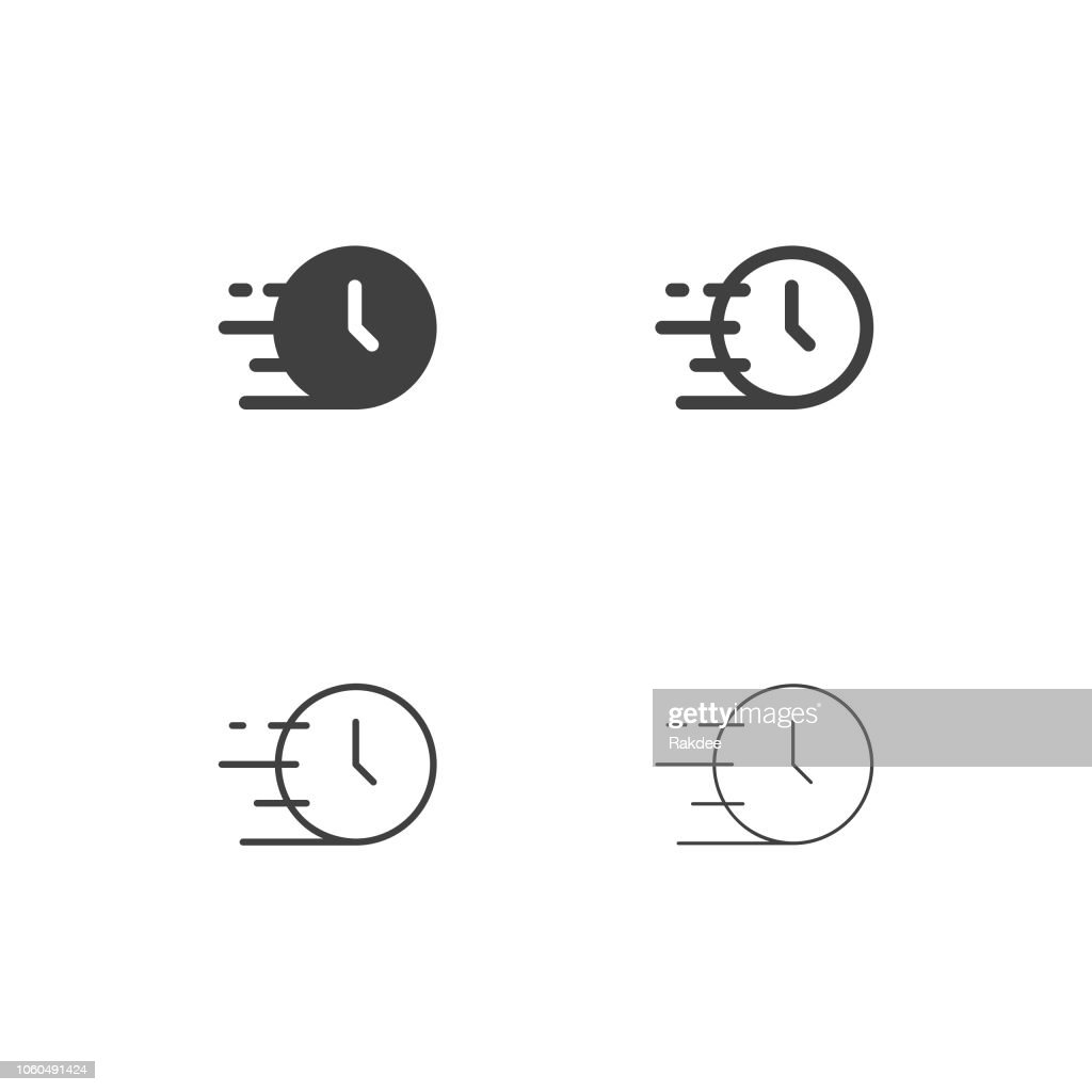 Fast Time Icons - Multi Series : stock illustration