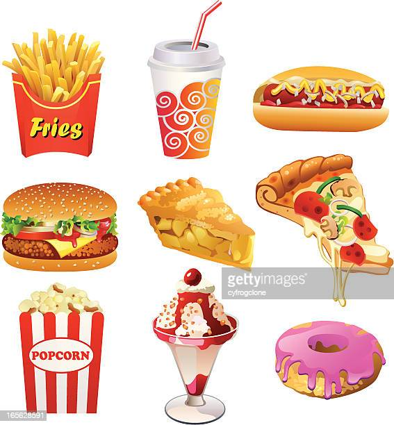 fastfood - french fries stock illustrations, clip art, cartoons, & icons