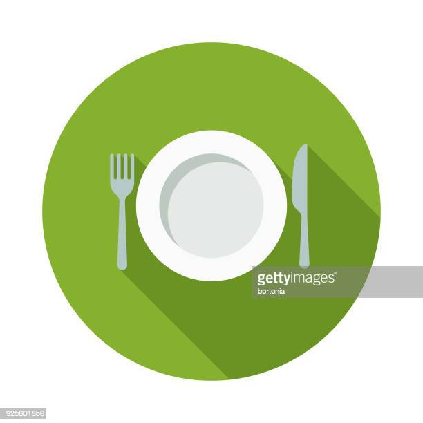 fasting flat design naturopathy icon with side shadow - hungry stock illustrations