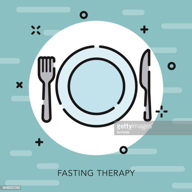 fasting open outline naturopathy icon - fasting activity stock illustrations, clip art, cartoons, & icons