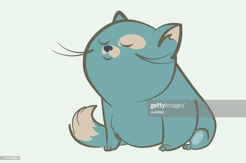 fat blue cat dream