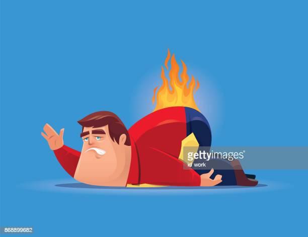 fat businessman back on fire