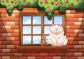 Fat cat  little mouse