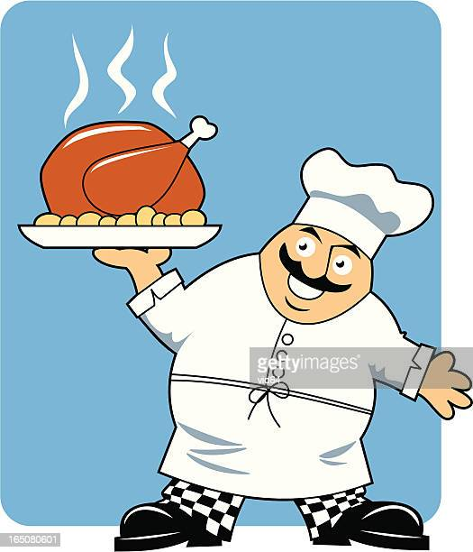 Fat Chef with Turkey
