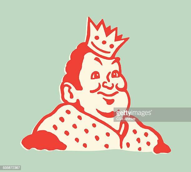 fat king - emperor stock illustrations, clip art, cartoons, & icons