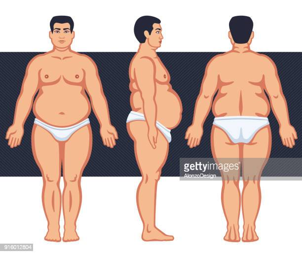 fat male with lingerie - underwear stock illustrations, clip art, cartoons, & icons