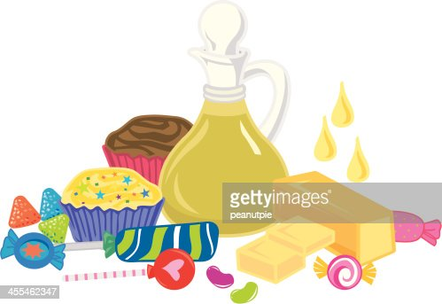 Fat Oil Sweets Group Vector Art - 72.2KB