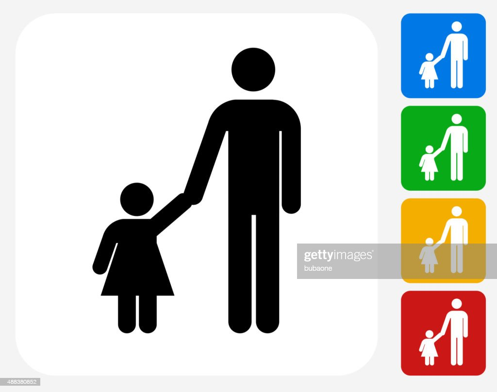 Father and daughter icon flat graphic design vector art getty images father and daughter icon flat graphic design vector art biocorpaavc