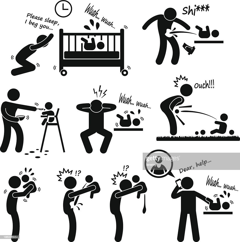 Father Daddy Husband Parenting Baby Pictogram