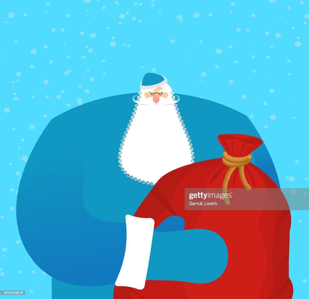 Geschenke Russland Weihnachten.Väterchen Frost Russischen Santa Claus Urgroßvater Im Blauen Anzug
