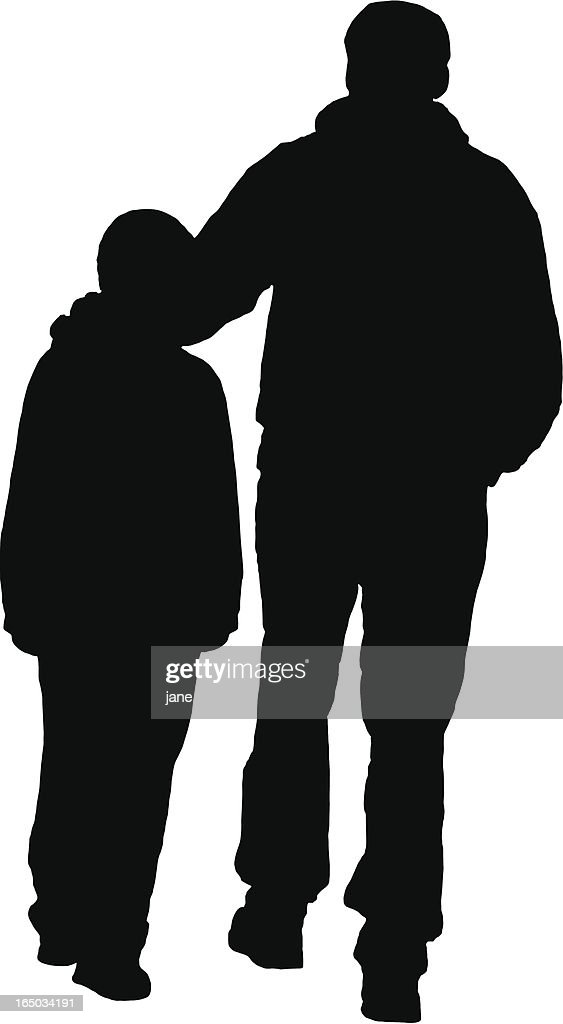 father son silhouette