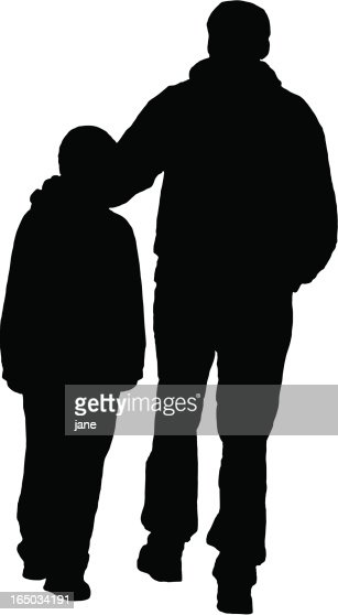 father son silhouette vector art getty images