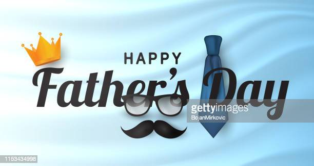 father's day banner, card wavy satin silk background. vector illustration - fathers day stock illustrations