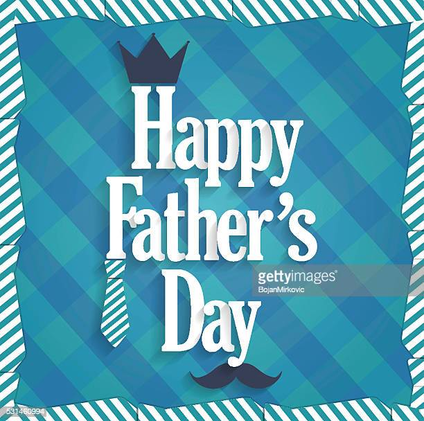 fathers day blue poster. cloth background - fathers day stock illustrations