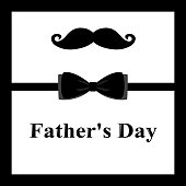 Father's Day. Greeting card with a mustache for Father's Day.