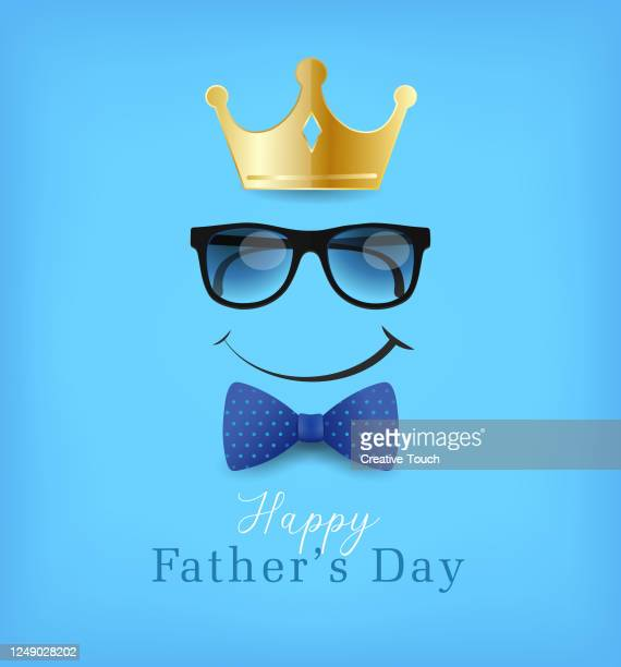 father's day greeting poster - bow tie stock illustrations