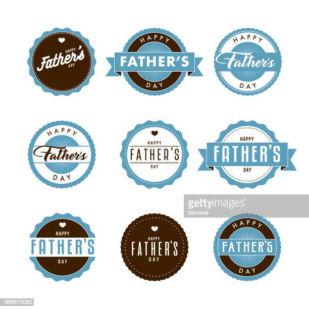 father's day icon set - fathers day stock illustrations