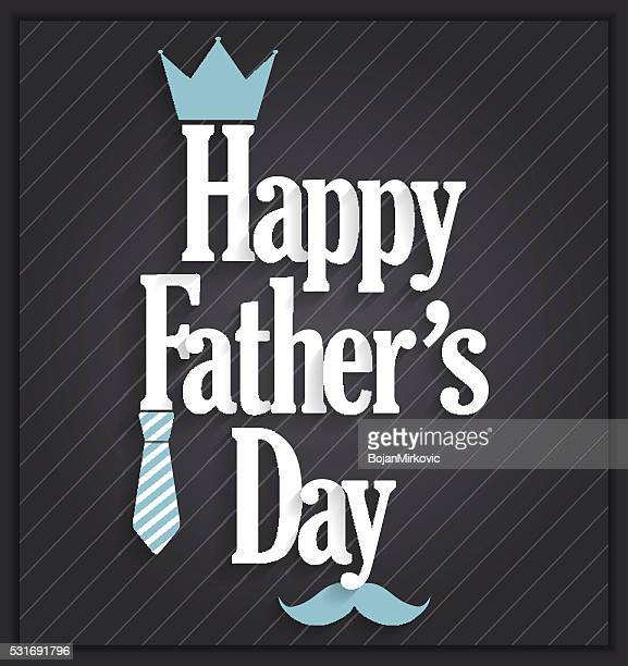 Fathers Day poster on black background