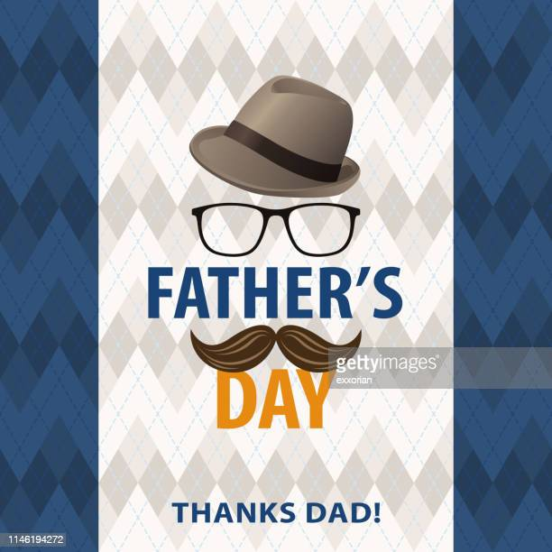 father's day thanks dad - fathers day stock illustrations
