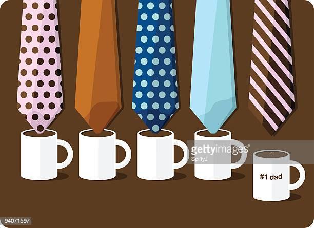 illustrations, cliparts, dessins animés et icônes de fête des pères liens - cravate