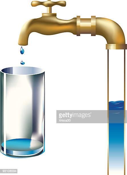 faucet - dehydration stock illustrations, clip art, cartoons, & icons