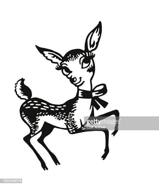 fawn - reindeer stock illustrations