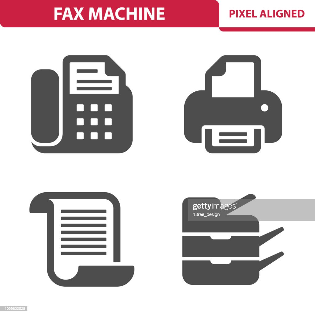 Fax Machine Icons