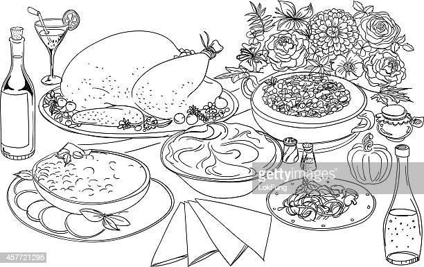30 Meilleurs Repas Entre Amis Illustrations Cliparts