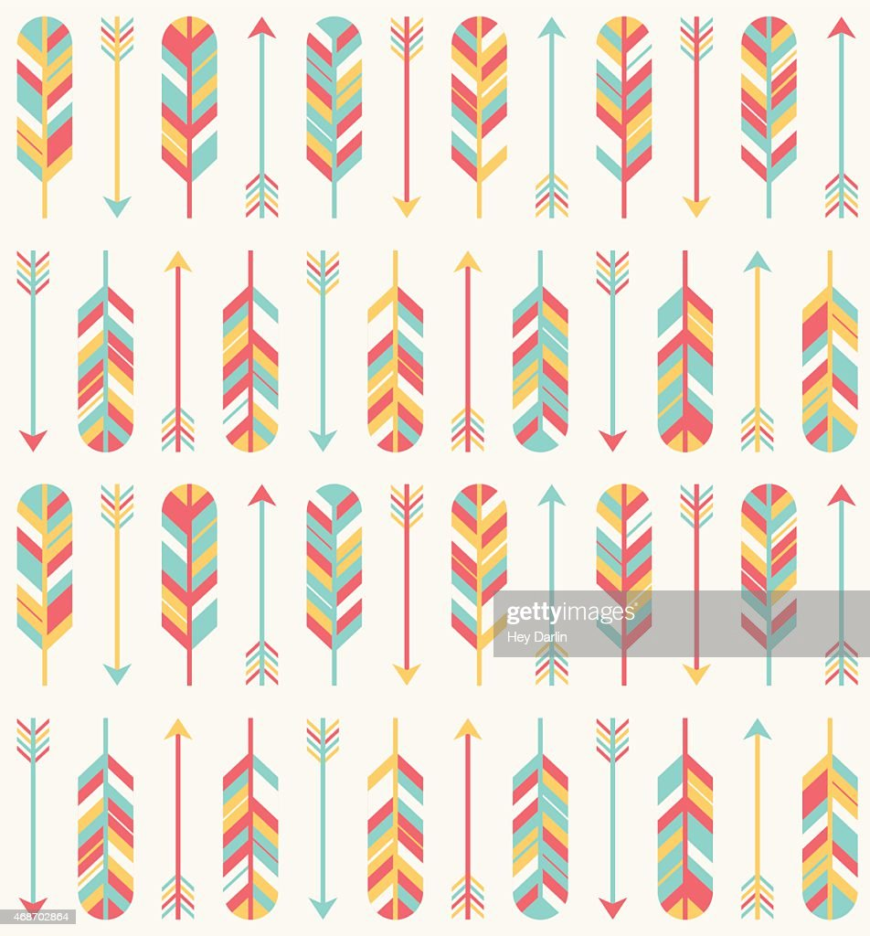 Feather and Arrow Pattern : stock illustration