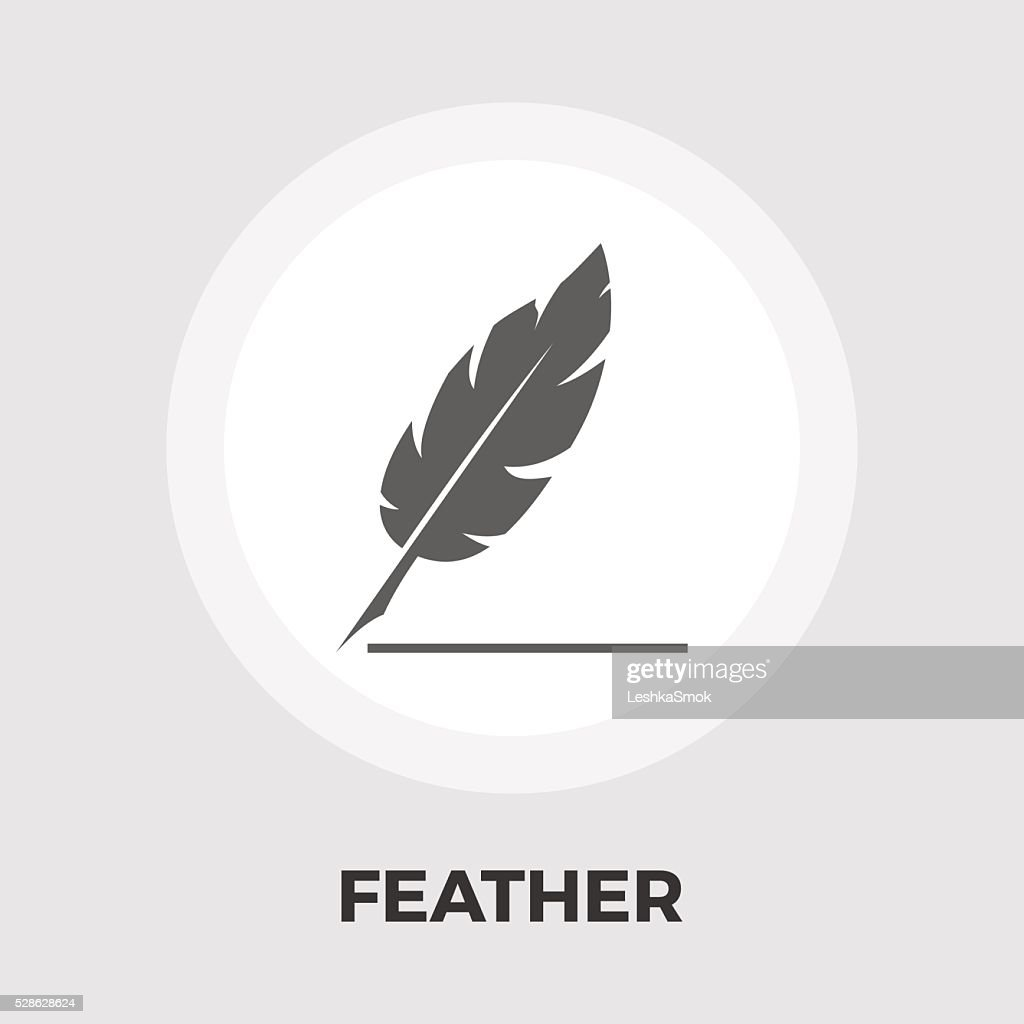Feather flat icon