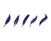 Feather pen Vector illustration
