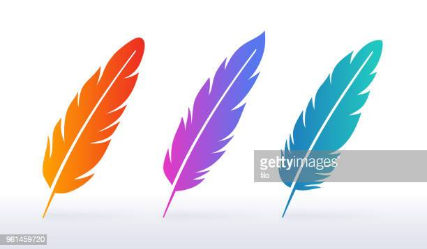 feather symbols - feather stock illustrations