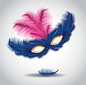 Feathered mask.