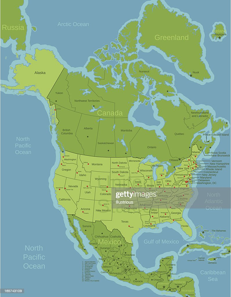 USA Featured in North America Map