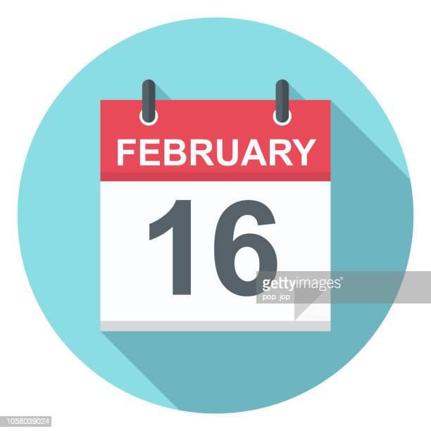 Februar 16 - Kalender-Symbol