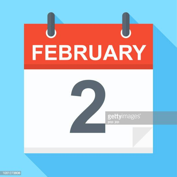 february 2- calendar icon - number 2 stock illustrations