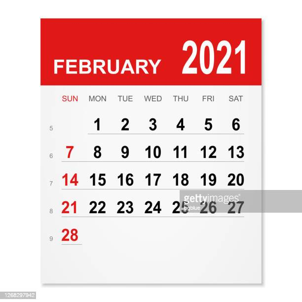 ilustrações de stock, clip art, desenhos animados e ícones de february 2021 calendar - fevereiro